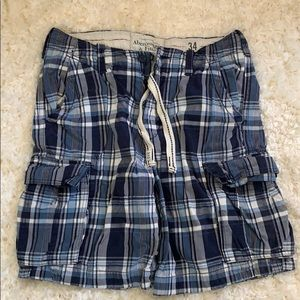 Abercrombie and Fitch plaid cargo shorts